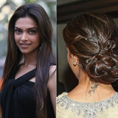 Bollywood Divas Back Neck Tattoo