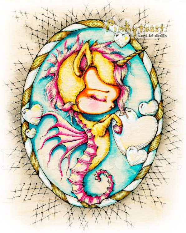 Bubbles And Seahorse Tattoos On Right Back Shoulder