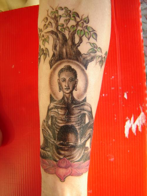 Buddhist Tattoo On Forearm