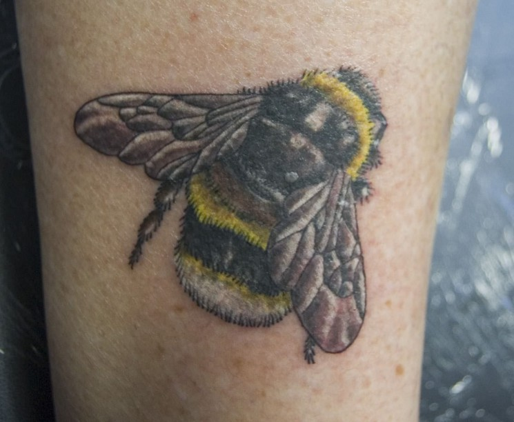 Bumble Bee And Dog Tattoo