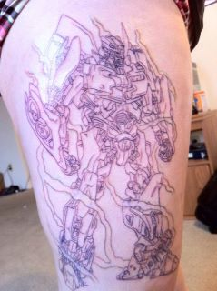 Bumblebee Line Art Tattoo