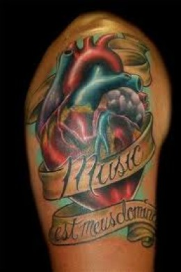 Burning Bottle With Banner Tattoos