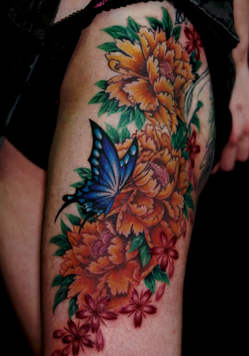 Butterfly And Flower Tattoos For Women