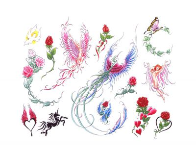 Butterfly And Unicorn Tattoo Designs