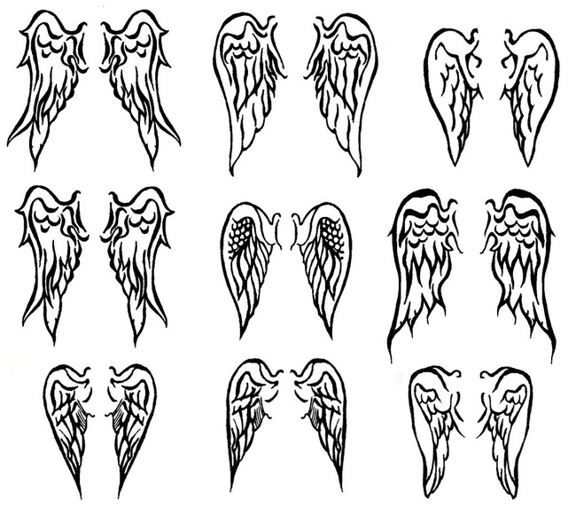 Butterfly Angel Wings Tattoo Design