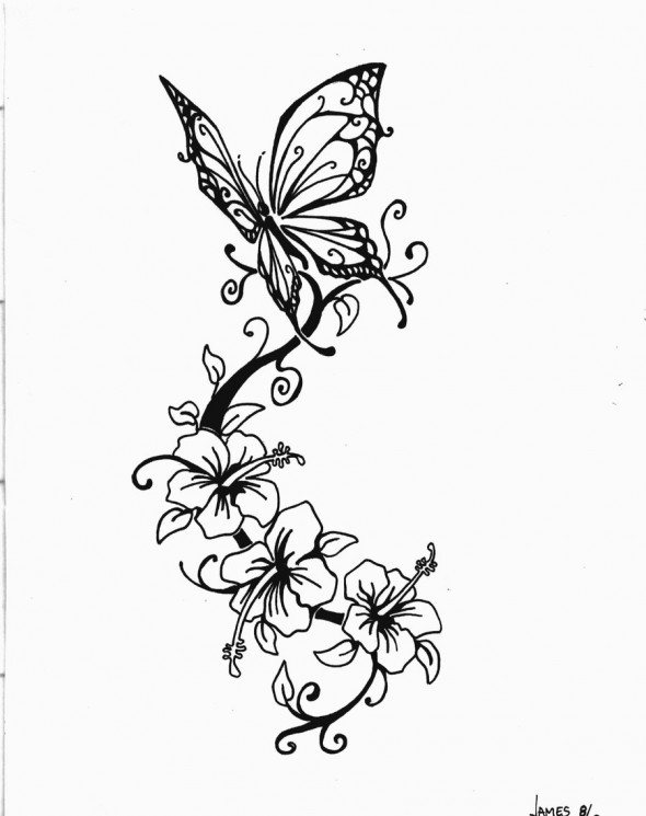 Butterfly Tattoo Drawing