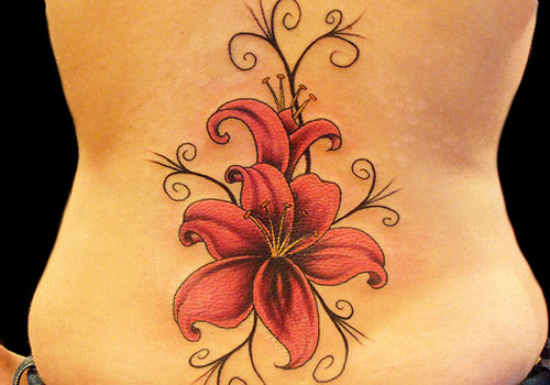 Calla Lily Flower Tattoo On Back