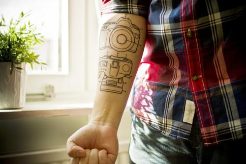 Camera Set Tattoo Designs
