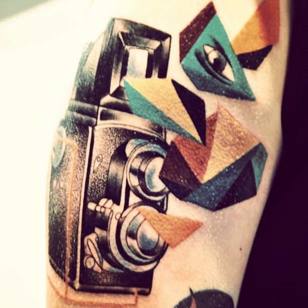 Camera Tattoo Graphic