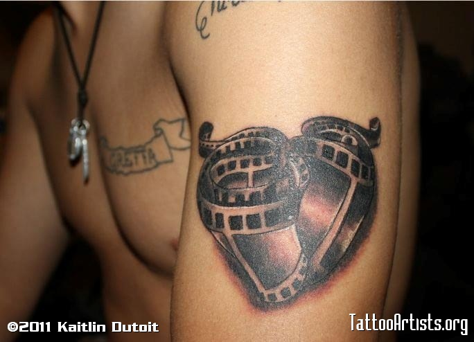 Camera Tattoo On Biceps For Guys