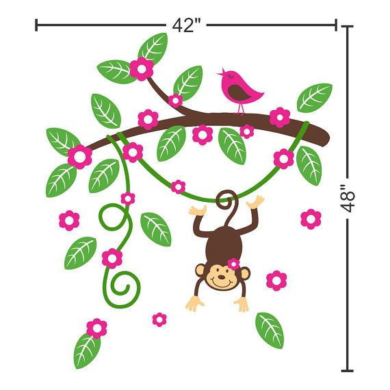 Cartoon Baby Monkey Hanging From A Branch Tattoo Design