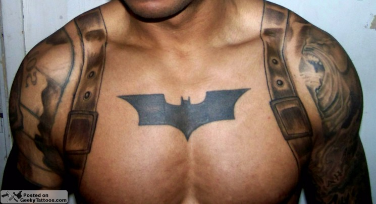 Cartoon Batman Tattoo