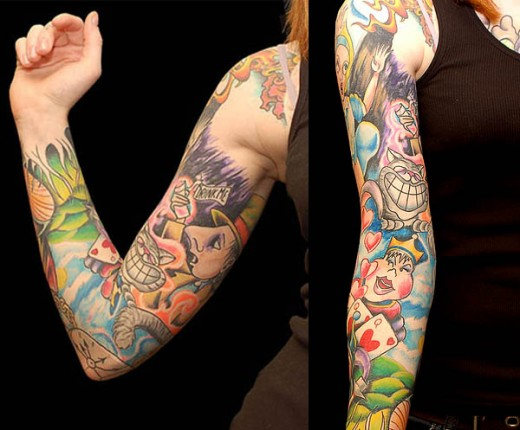 Cartoon Sleeve Tattoo
