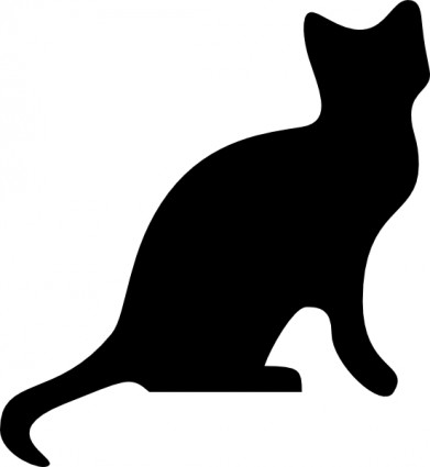 Cat Banner Tattoo Graphic
