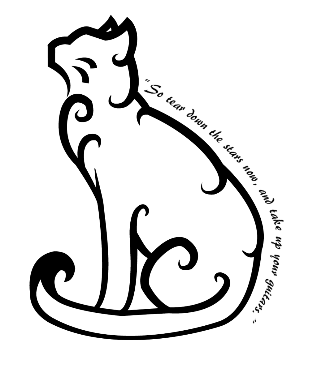 cat on face moon tattoo real photo pictures images and sketches