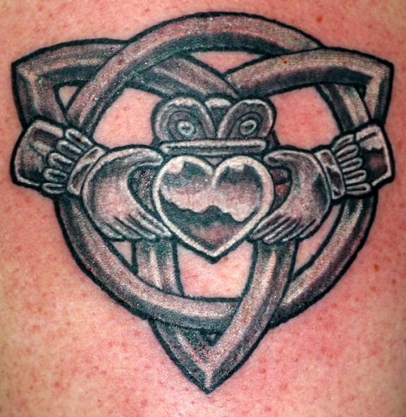 Celtic Claddagh And Knot Tattoo Design