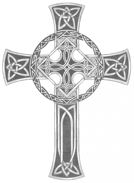 Celtic Cross And Loyaly Viking Ship Tattoos For Men