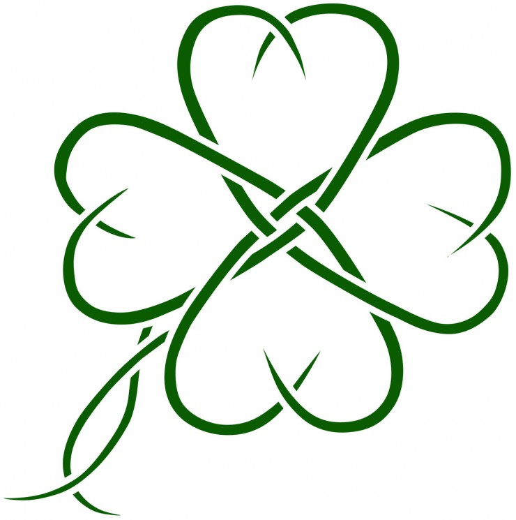 Celtic Four Leaf Clovers Tattoo Design