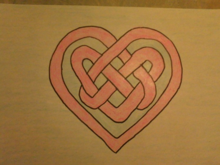 Celtic Knot Heart Tattoo Poster