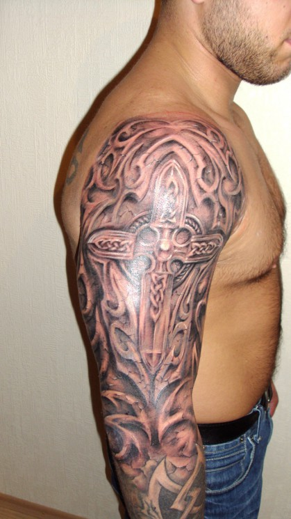 Celtic Symbol Tattoo On Shoulder