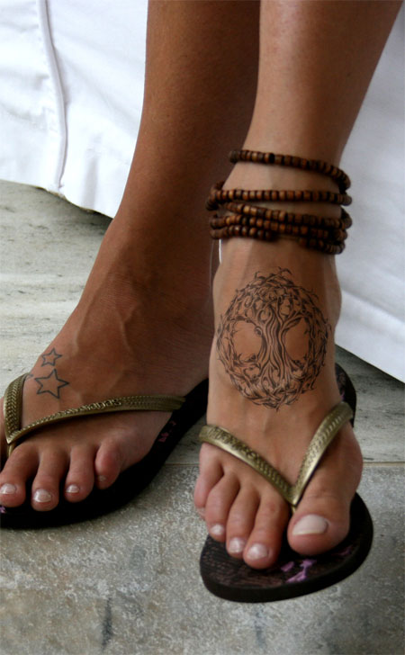 Celtic Tree Of Life Tattoo For Foot