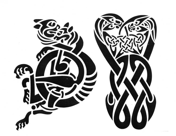Celtic Viking Tattoo Stencil