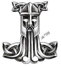 celtic viking thor hammer tattoo on lower back in 2017. Black Bedroom Furniture Sets. Home Design Ideas