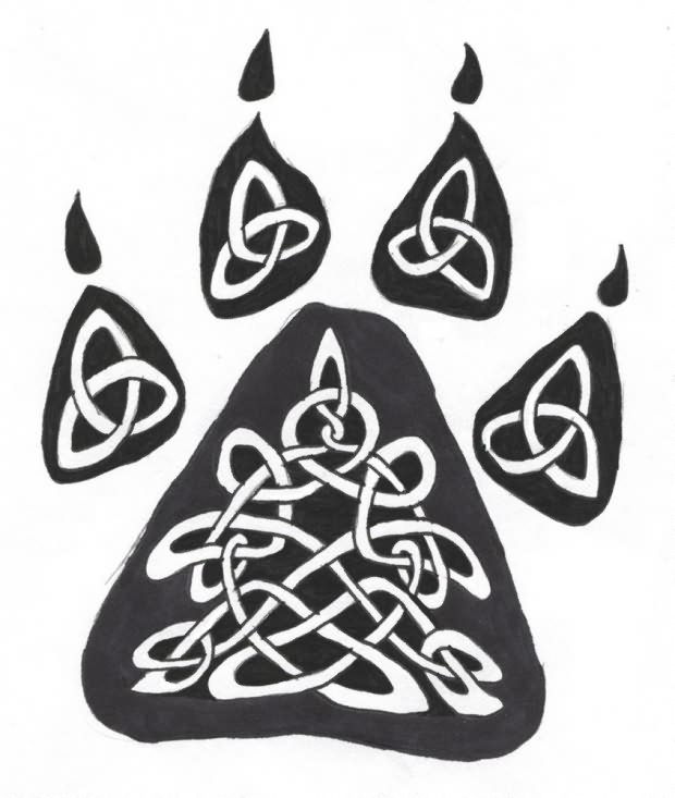 Celtic Wolf Paw Tattoo Sample