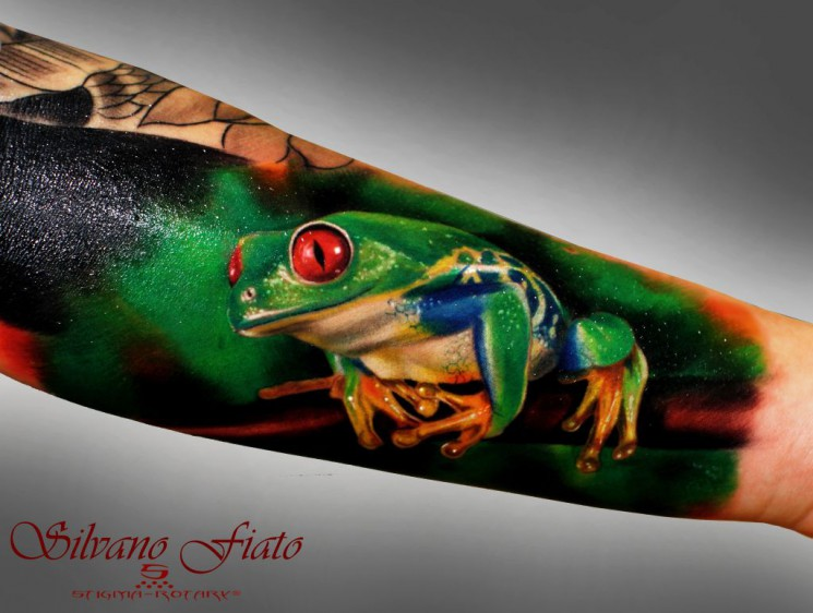 Charming Frog Tattoo On Arm