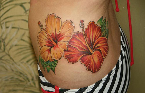 Charming Hibiscus Tattoo