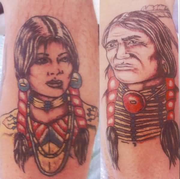 Cherokee Indian Tattoo On Chest