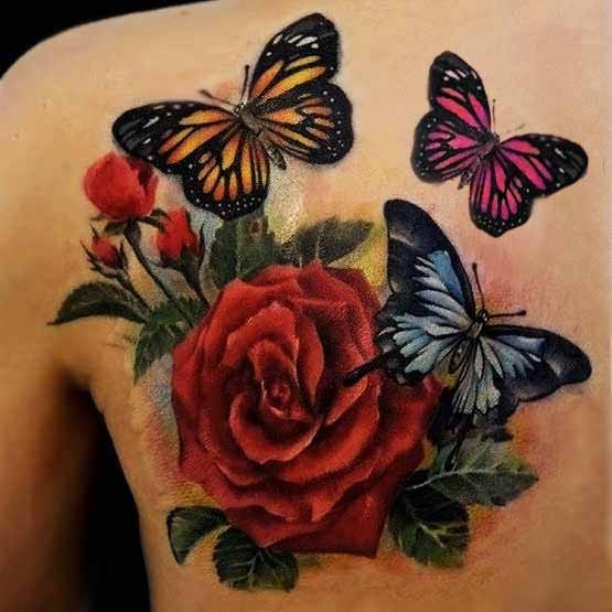 Chinese Butterfly Tattoo Designs