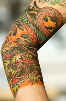 Chinese Dragon Tattoo Design On Arm