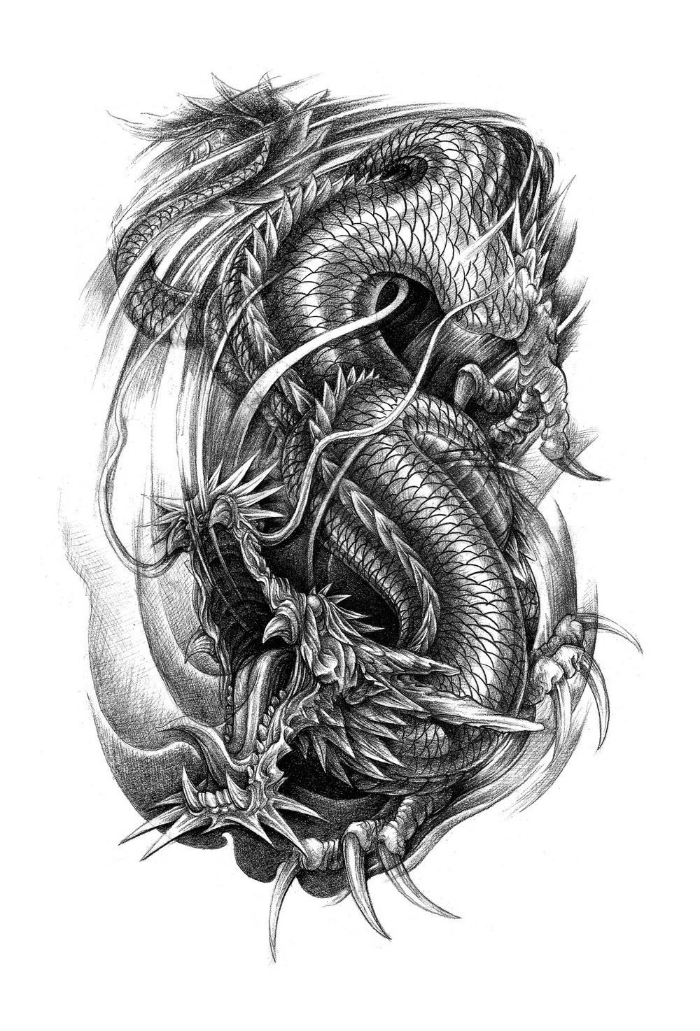 chinese phoenix dragon and symbols tattoos flash in 2017