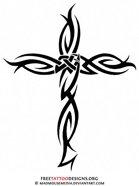 Christ Cross Tattoo On The Back