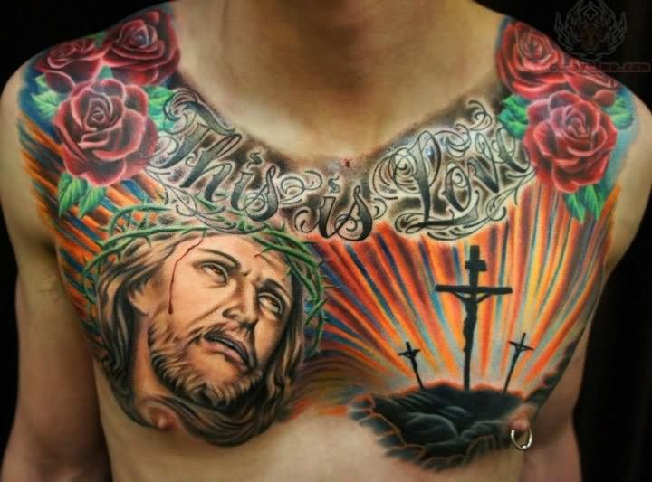 Christ Jesus Tattoo On Chest