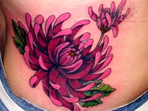 Chrysanthemum Butterfly Tattoo Image
