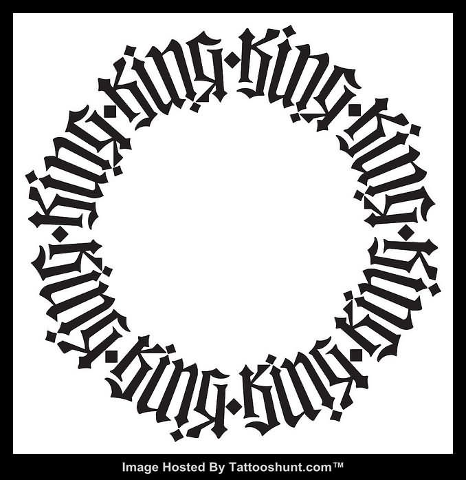 Circle Ambigram Tattoo Designs