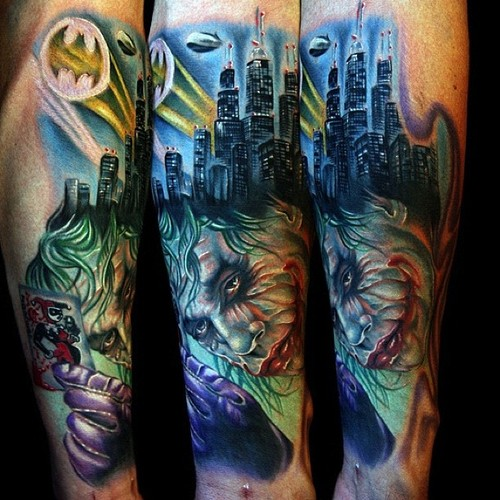 City Towers Sleeve Tattoos For Guys