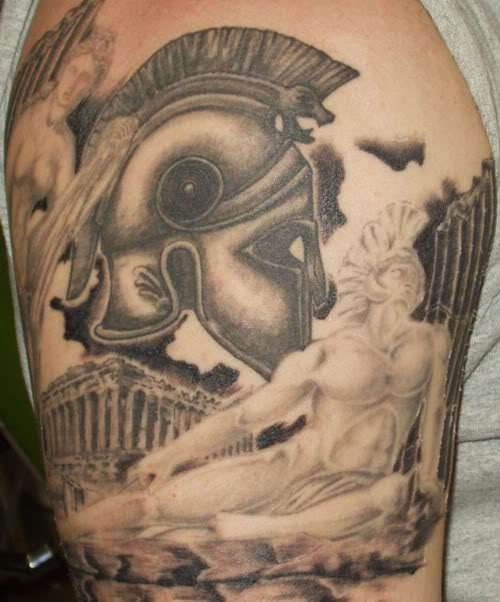 Classical Tribal Tattoos On Shoulder To Neck