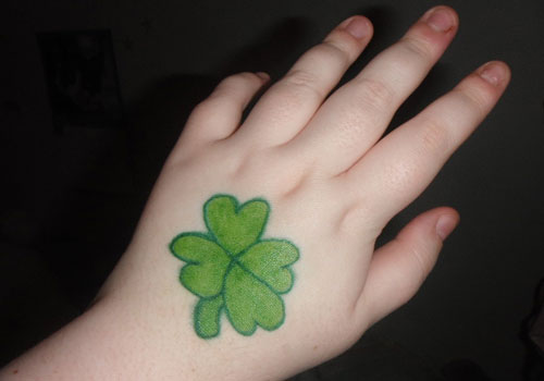 Clover Leaf Tattoo For Hand