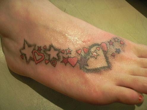 Clovers Foot Tattoo Picture