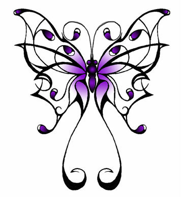 Color Ink Fairy Angel Tattoo Design
