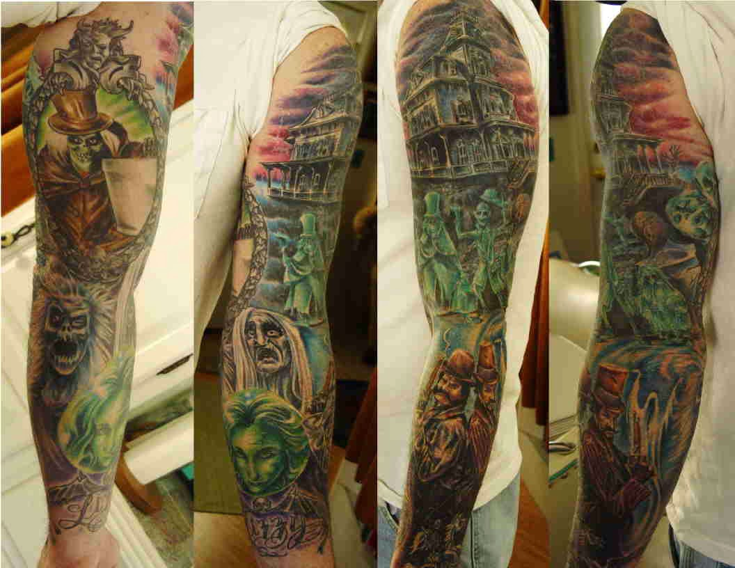 Cemetery and graveyard tattoo on half sleeve - Related Post Pin Up Girl In Graveyard Tattoo Design