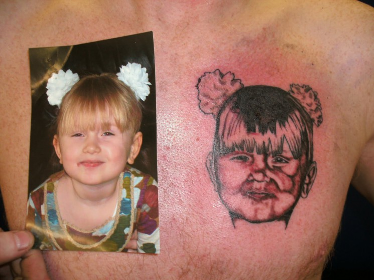 Color Ink Portrait Tattoo