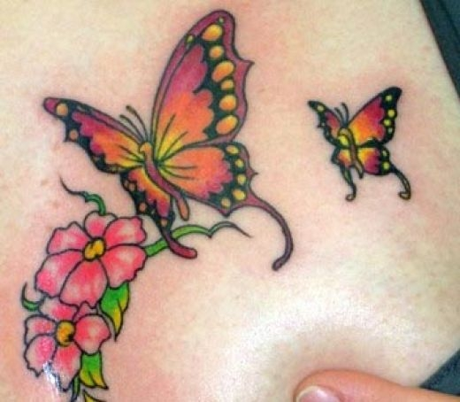 Colorful Butterfly Tattoo Designs