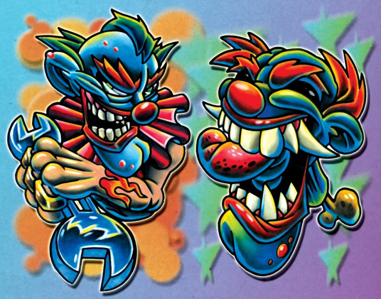 Colorful Joker Tattoo Flash