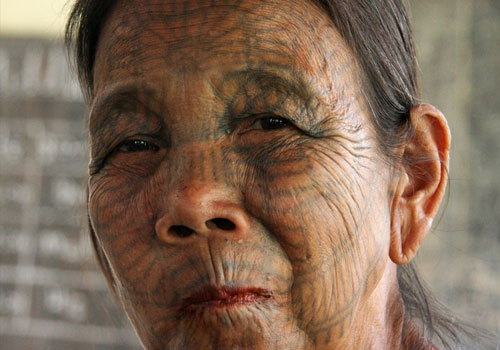 Colorful Tattooed Old People