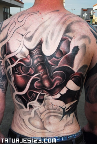 Comedy Drama Masks Tattoo On Chest For Men