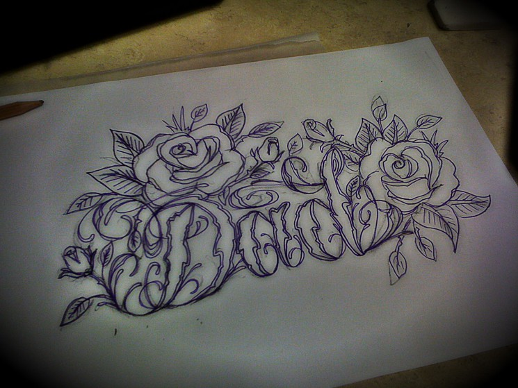 Coming Soon Lettering Design Tattoo